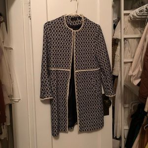 Zara navy and white printed jacket